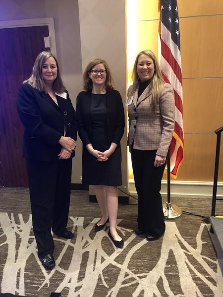 Jeannine Cain and Donna Crew with Lauren Riplinger, JD  Senior Director, Federal Relations